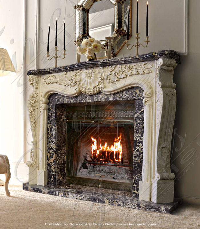 Marble Fireplaces  - Day And Night Marble Fireplace - MFP-770