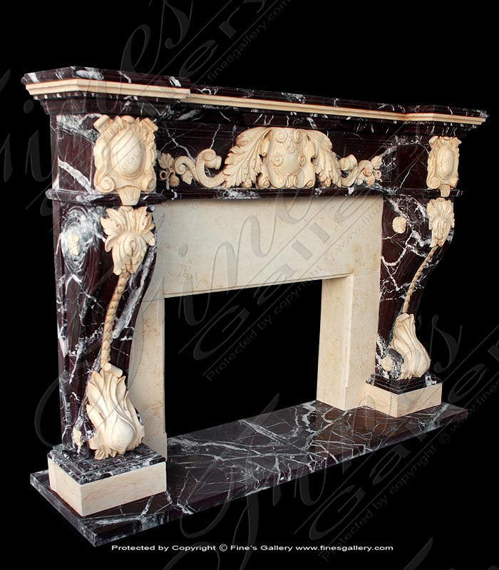Marble Fireplaces  - Grand Majesty Marble Fireplace - MFP-711