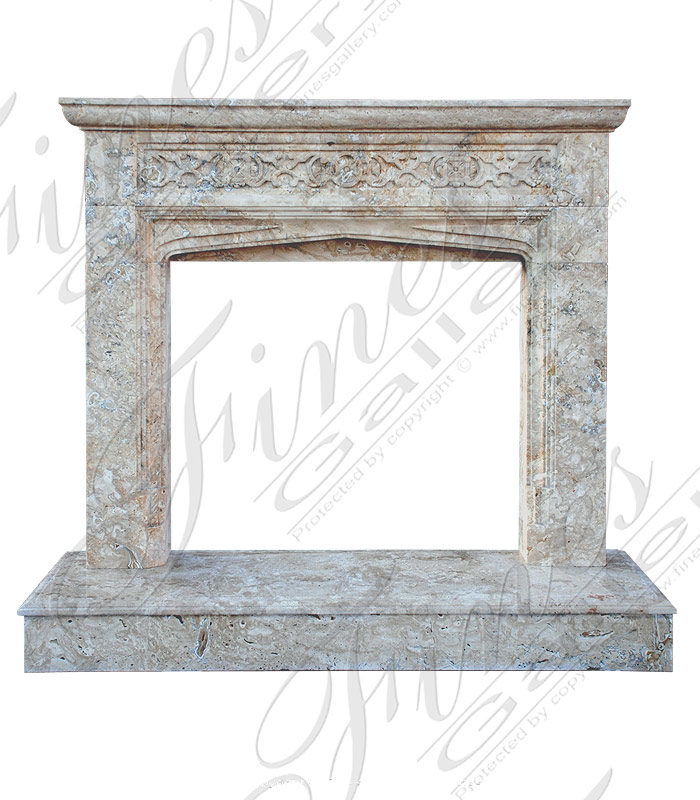 Marble Fireplaces  - Gold Marble Fireplace - MFP-1440
