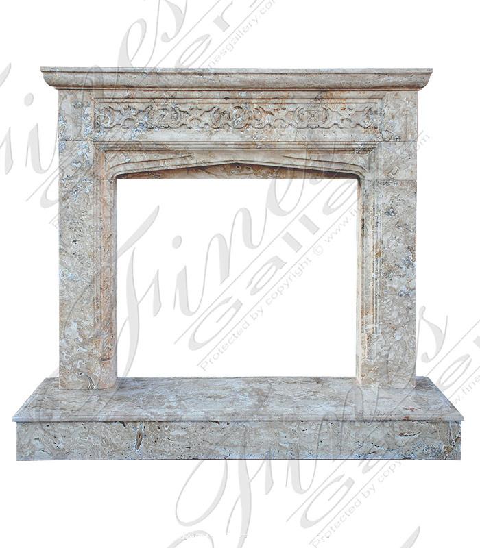 Travertine Tudor Marble Mantel