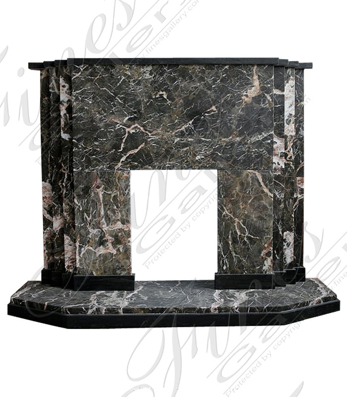 Modern Black Marble Fireplace