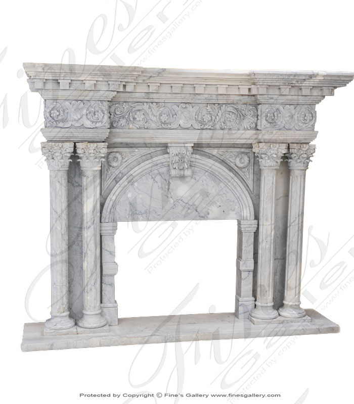Romanesque Marble Fireplace