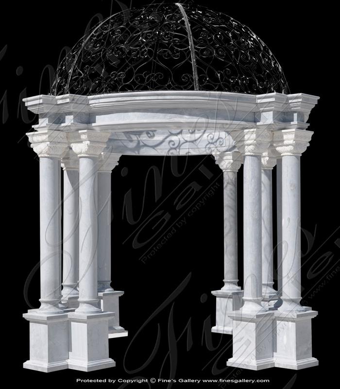 Classical White Marble Gazebo
