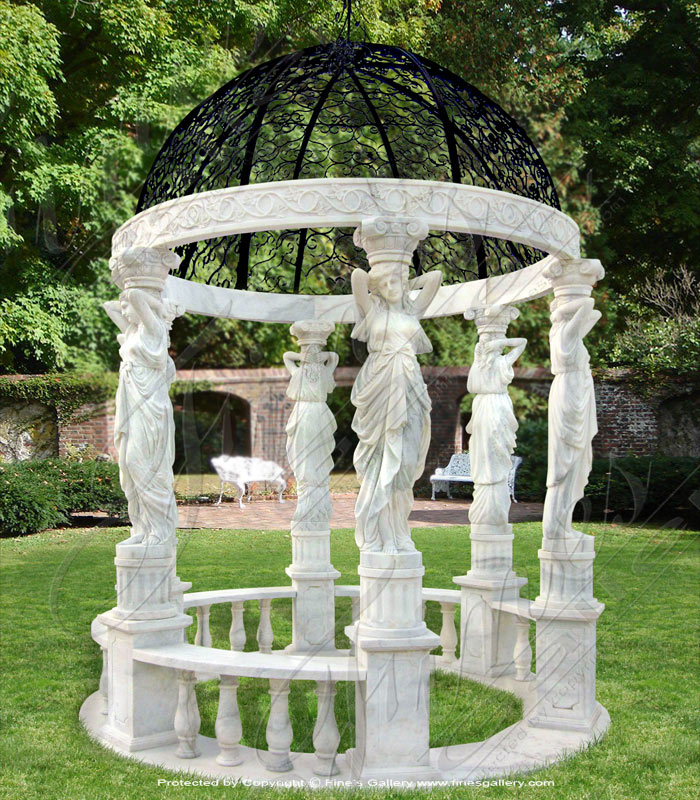 Marble Gazebos  - Classical Greece Marble Gazebo - MGZ-276