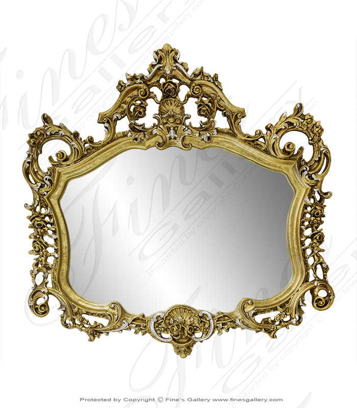 Ornate Gold Gild Mirror