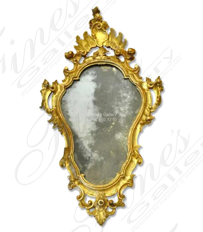 French style Mirror with Gold Gild Finish ( Pair )