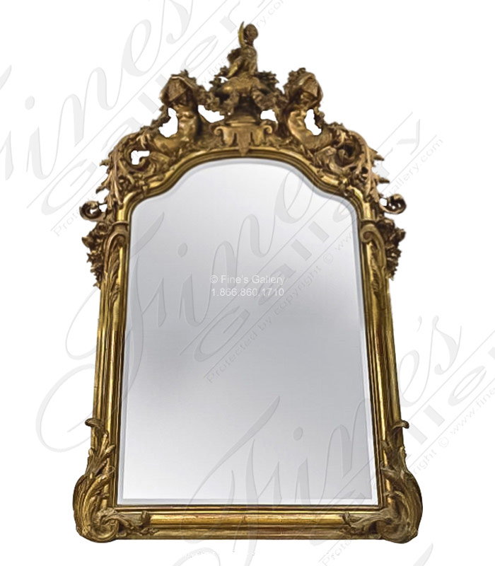 A stunning gold gild finished french style mirror