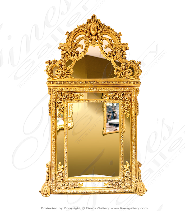 Elaborate Louis XV Gold Gild Mirror