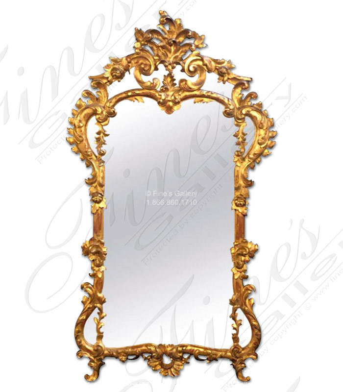 Louis XV Gold Gild Mirror