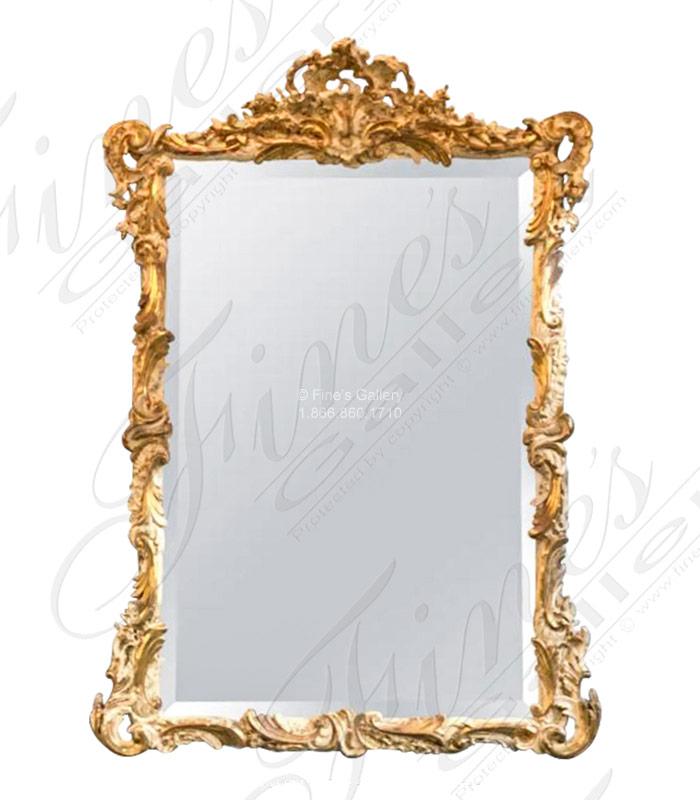 Gold Gild Floral Scrollwork Mirror
