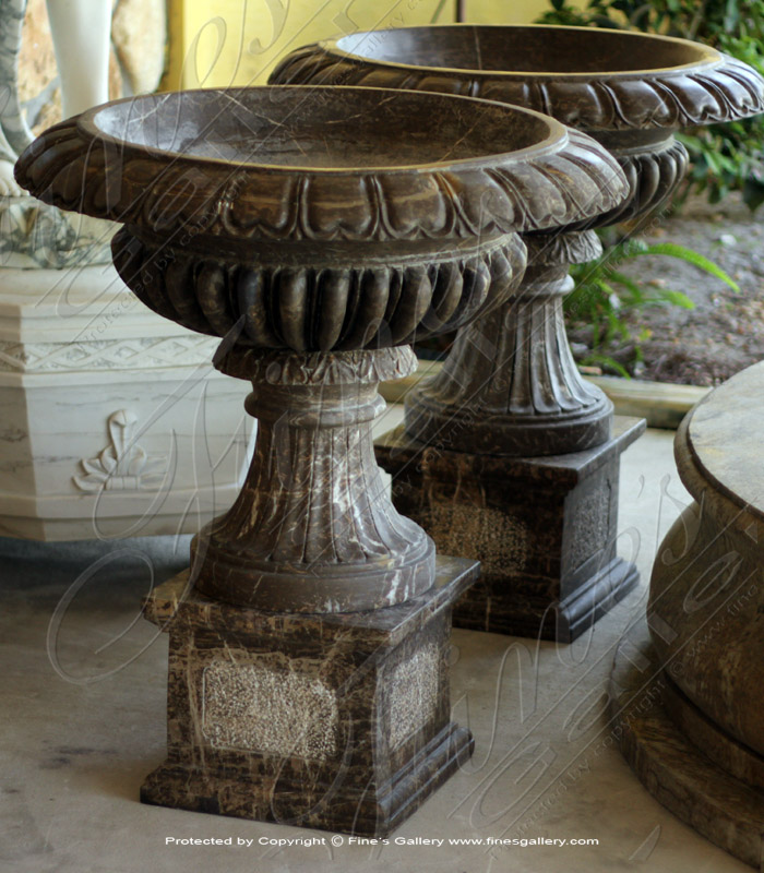 Ornate Elegance Marble Planter