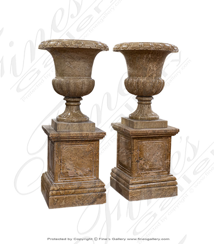 Granite Planter Pair