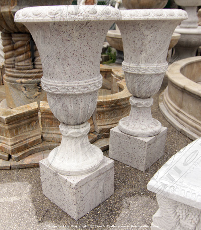 Kashmir White Granite Planter