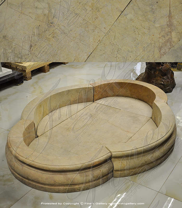 Marble Fountains  - Golden Clover Marble Fountain - MPL-182