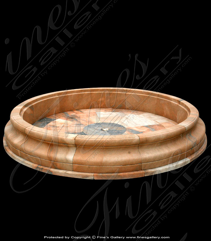 Beveled Edge Round Marble Pool