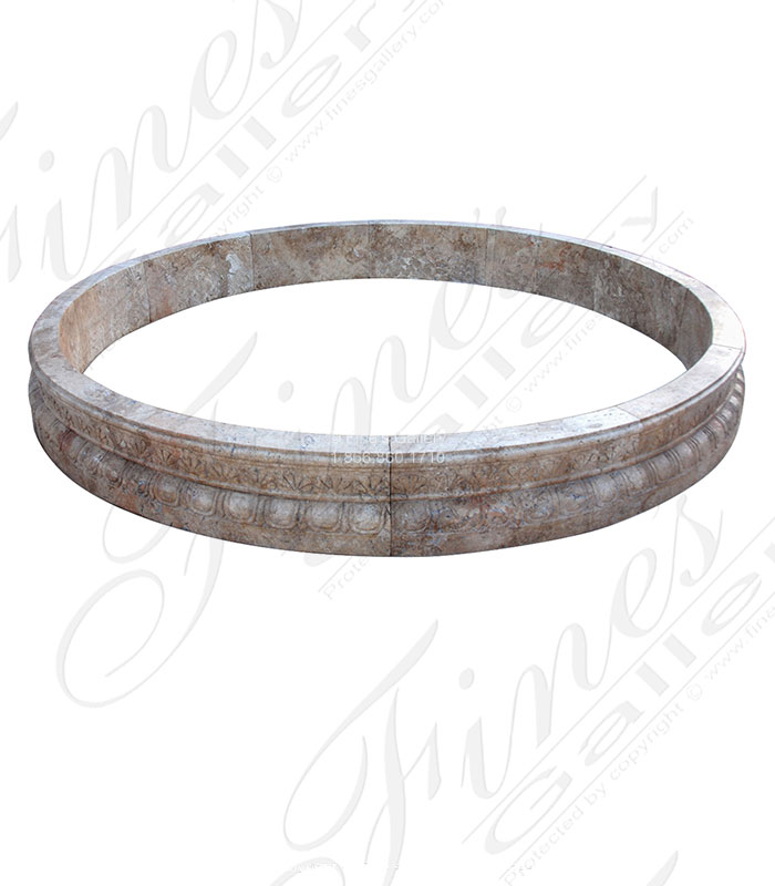 Marble Fountains  - Light Beige Marble Pool - MPL-291