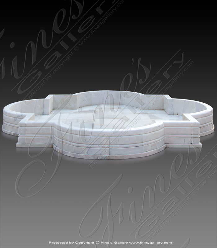 White Marble Pool Basin