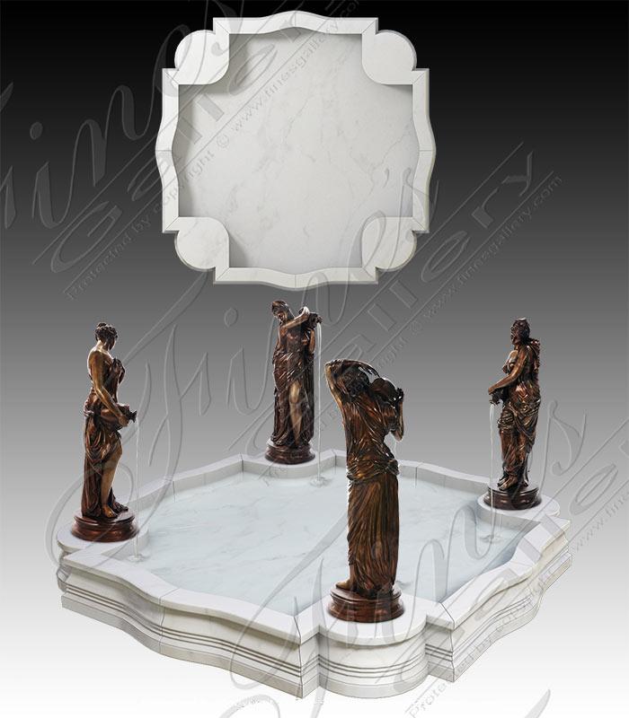 Statuary White Marble Pool