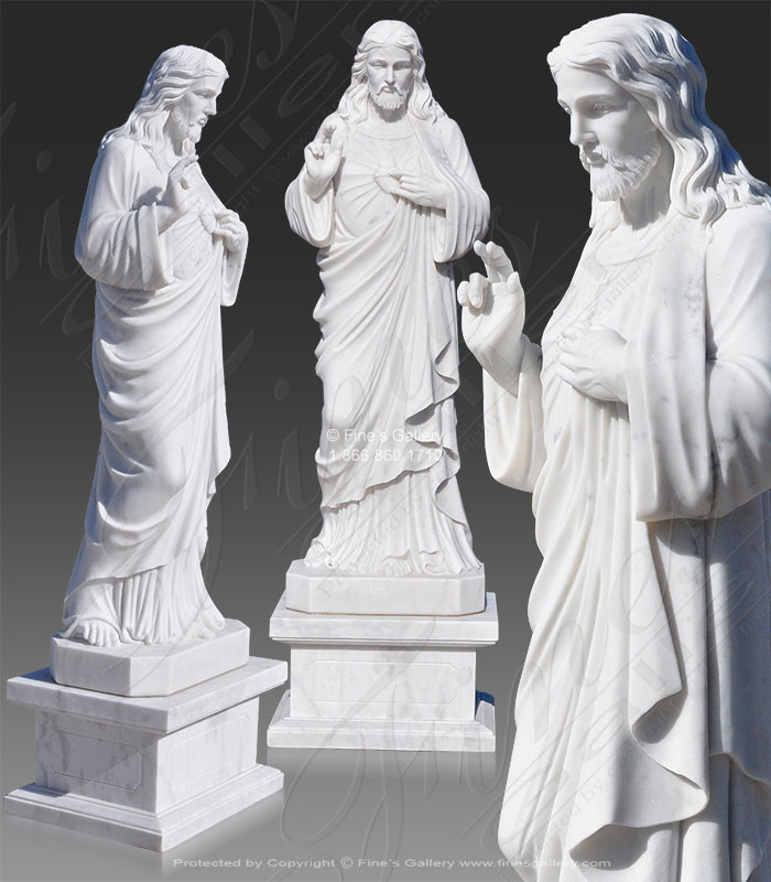 Search Result For Marble Statues  - White Marble Jesus Christ Statue - MS-923