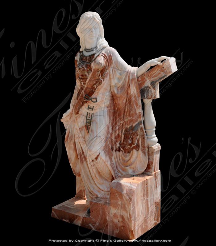 Marble Statues  - Kneeling Roman Marble Ladies - MS-1151