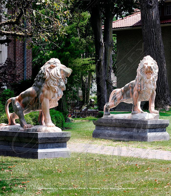 Estate Lion Pair