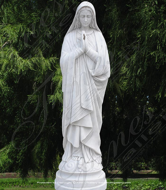 Virgin Mary Marble Statue