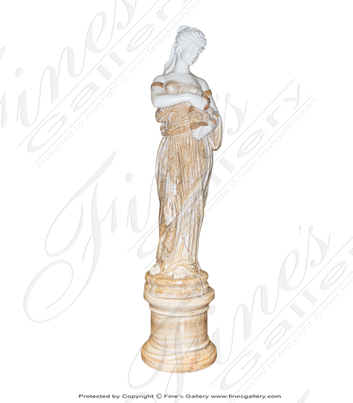 Marble Statues  - Graceful Lady - MS-564