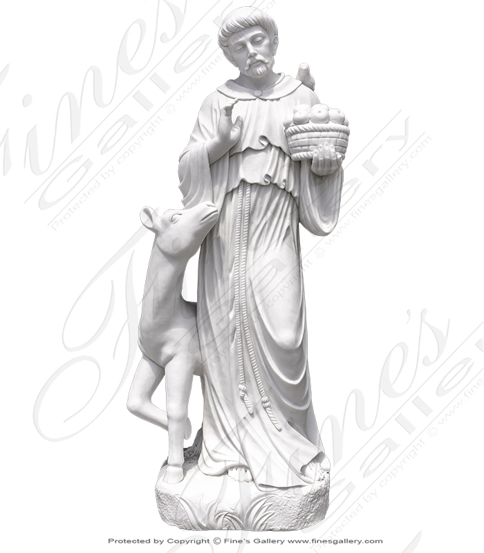 Marble Fountains  - Saint Francis Of Assisi Fountain - MF-1414
