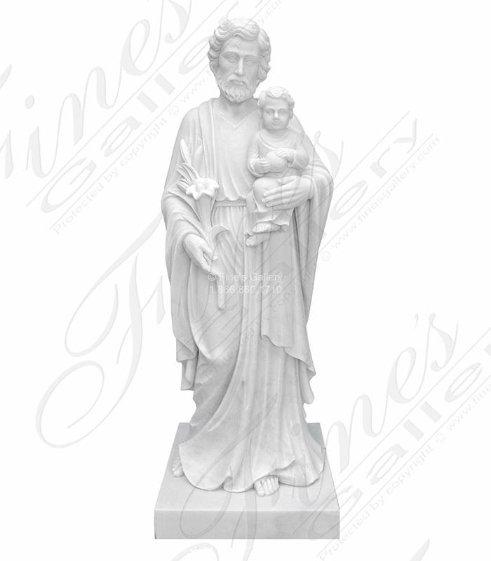 Saint Joseph Marble Statue