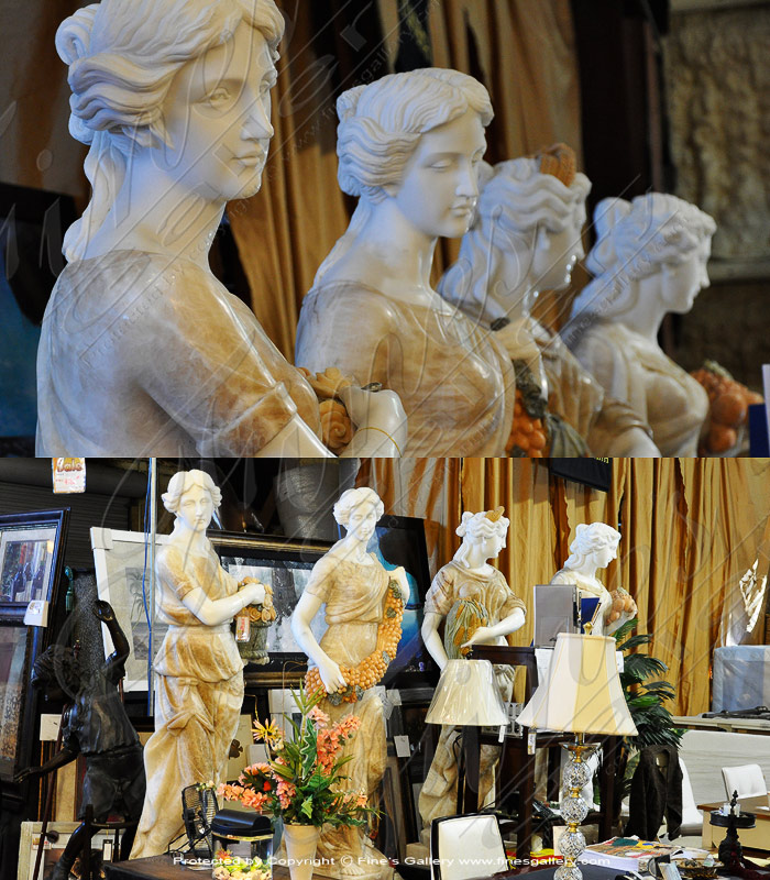 Marble Statues  - Four Seasons Marble Statue Set - MS-1100