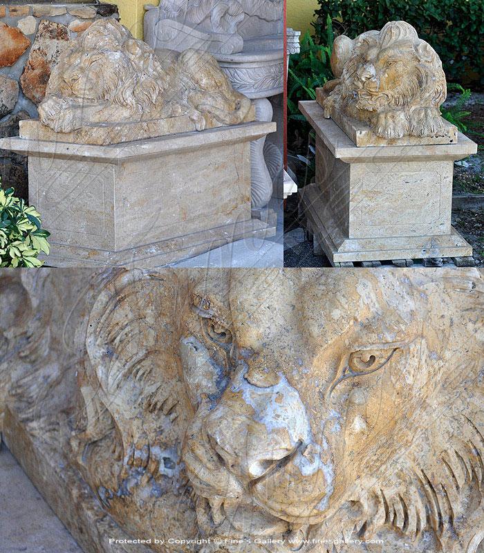 Resting Lion Pair