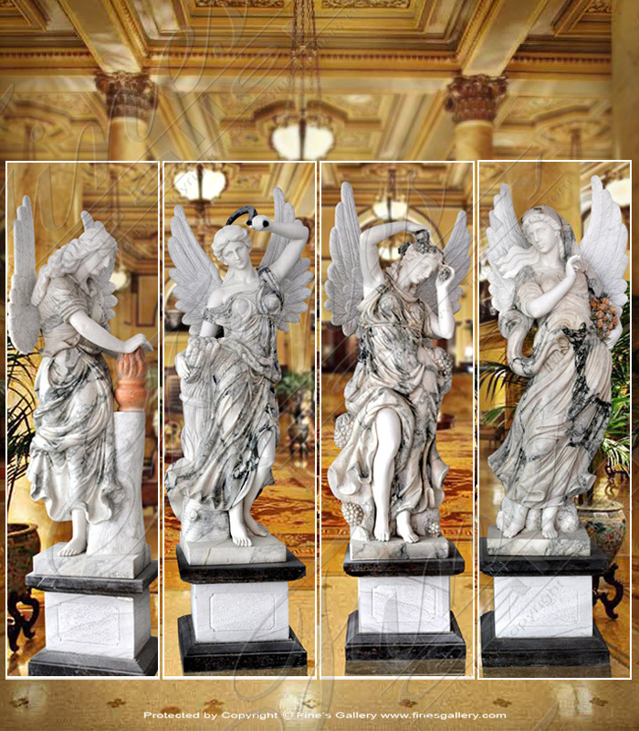 Marble Statues  - Four Season Angels - MS-668