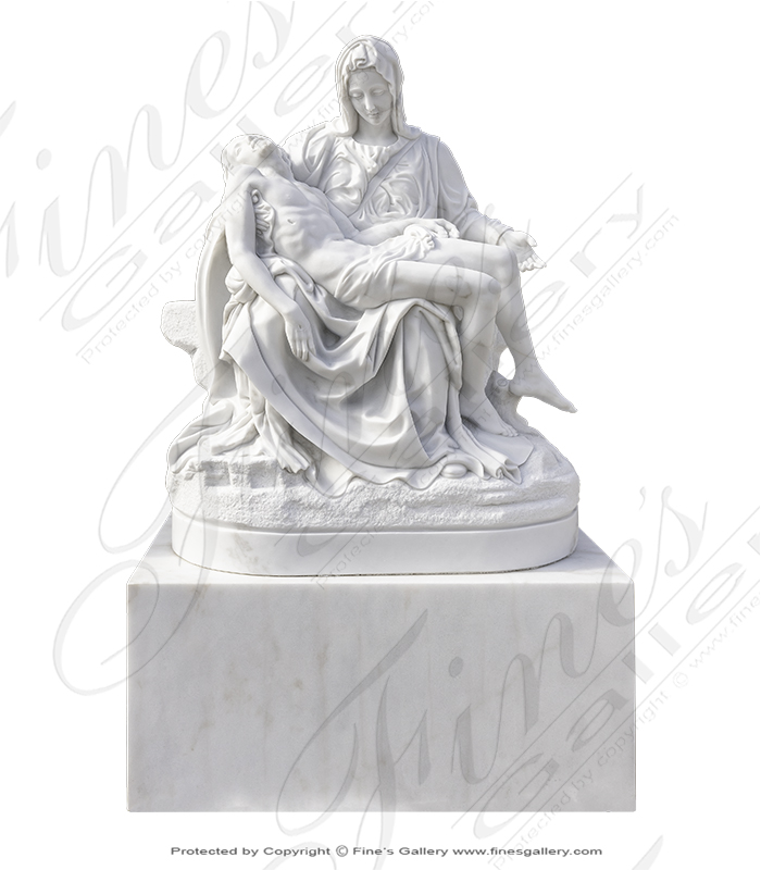 Search Result For Marble Statues  - Marble Pieta Statue - MS-1204