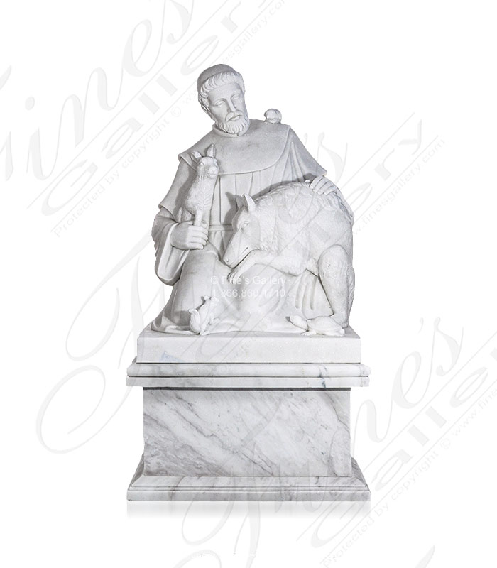 Saint Francis of Assisi Marble Statue