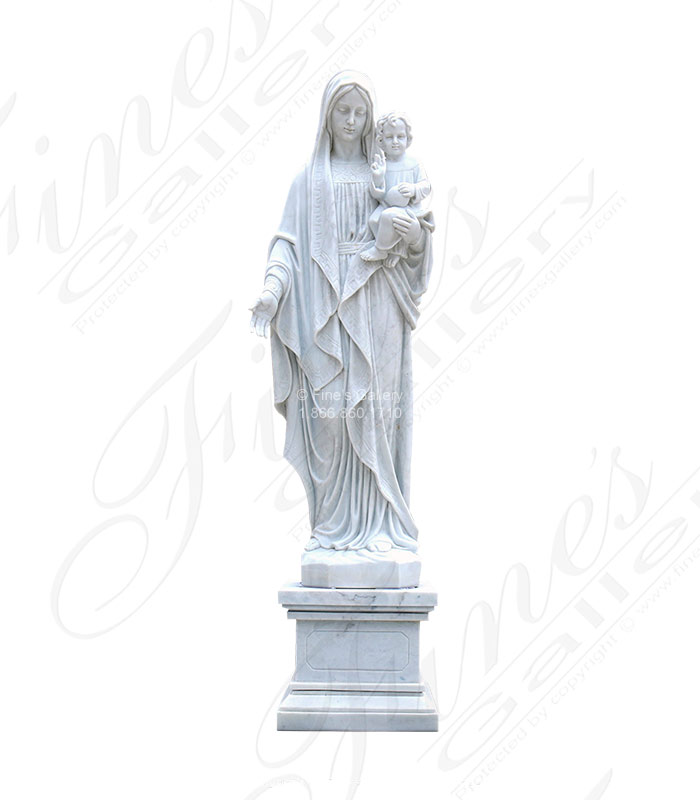 St Mary and Baby Jesus in Statuary Marble