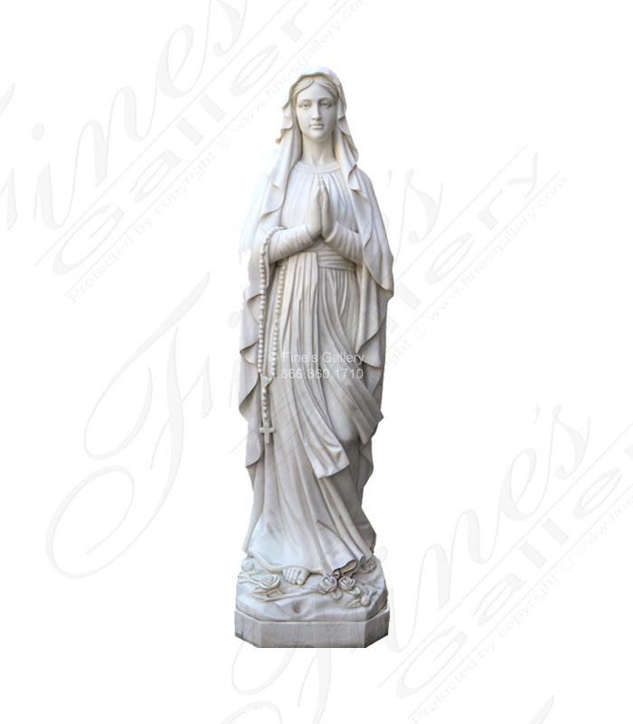 Life Size Lady of Lourdes Marble Statue