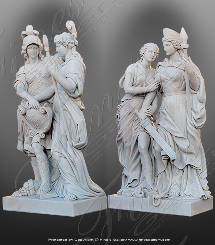 Marble Female Soldier Statues