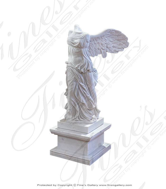 Winged Victory Marble Statue