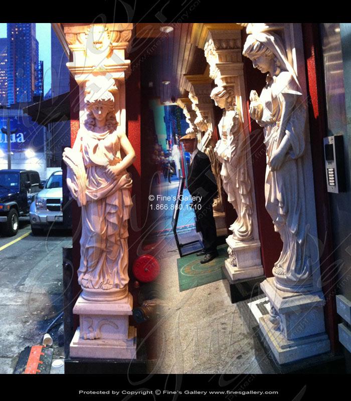 Roman Caryatid Marble Column