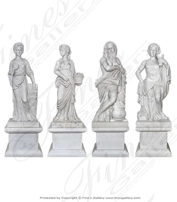 The Famous Four Roman Marble Statue Set