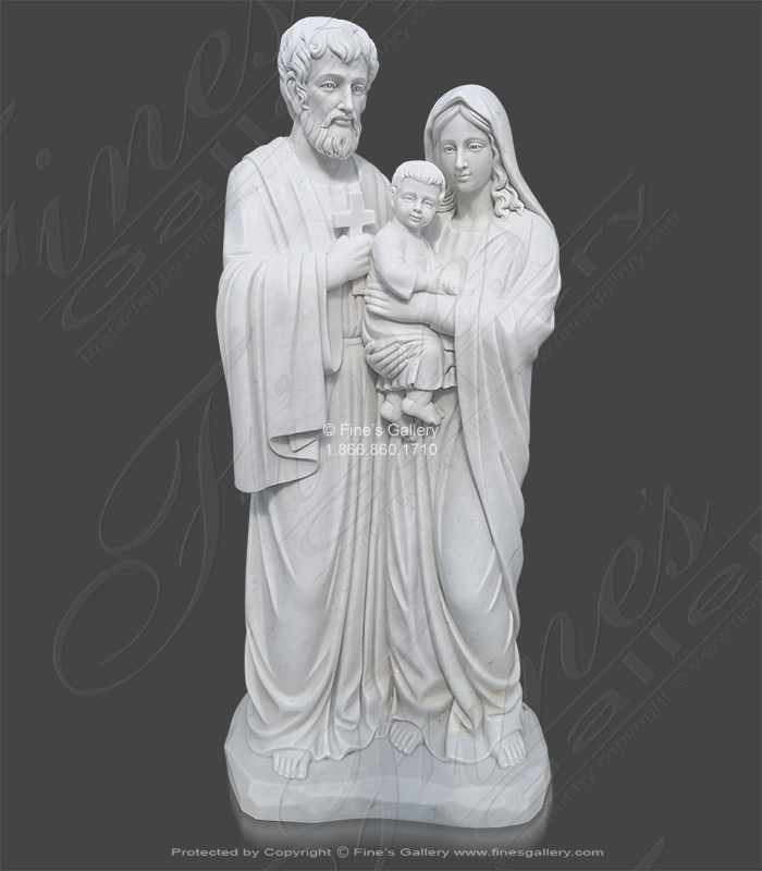 The Holy Family Marble Statue - Life Size!