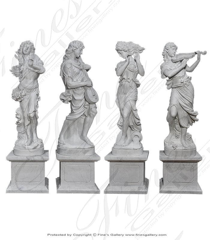 Musical Marble Statue Set