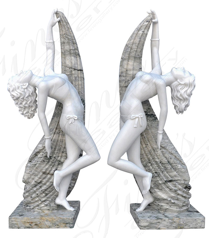 Marble Statues  - Dancing Duo - MS-1377