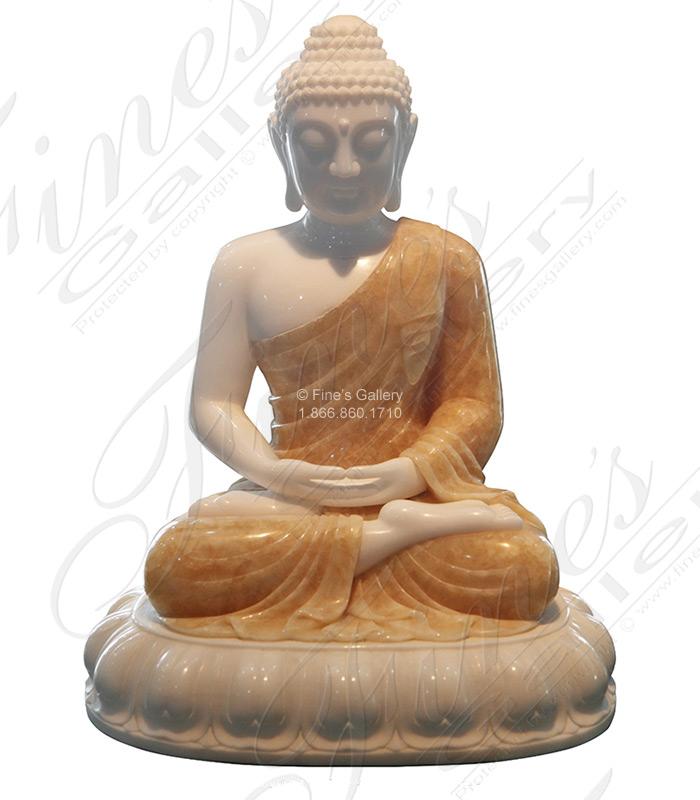 Marble and Onyx Buddha Statue