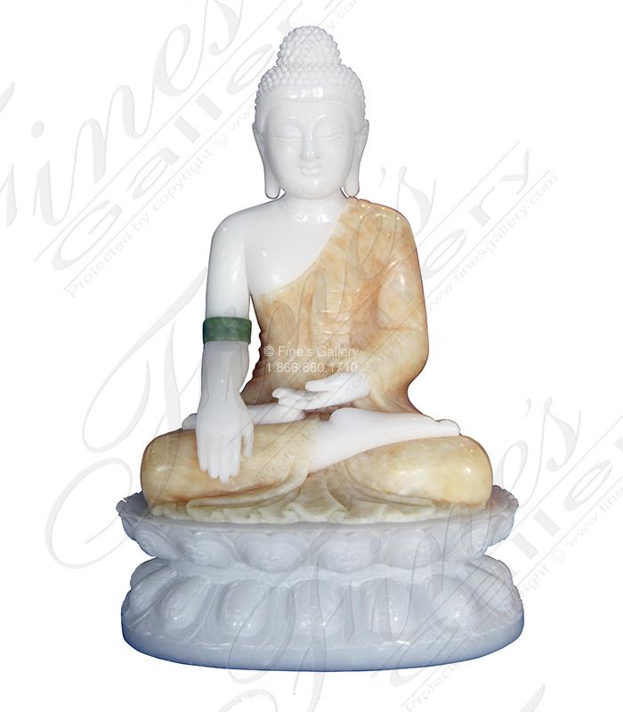 Desktop Size Marble Buddha Statue