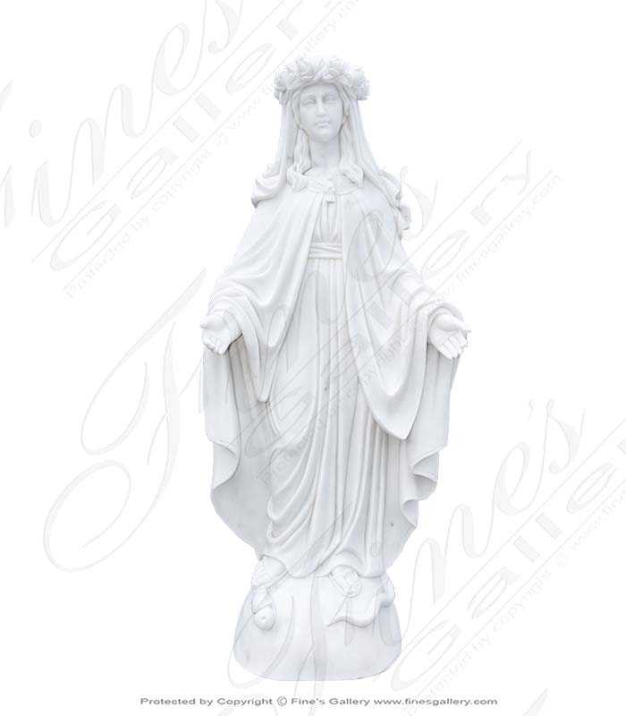 Our Lady of Grace with Rose Garland Head Dress