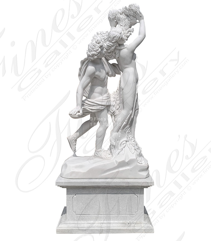 Apollo and Daphne Marble Marble Statue