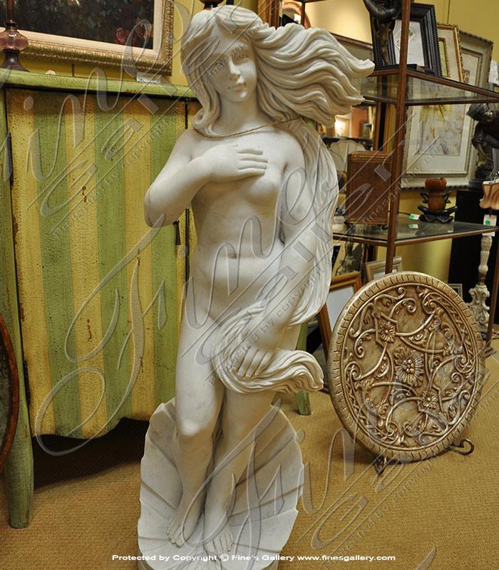 Botticelli's Birth Of Venus - Marble Statue Female