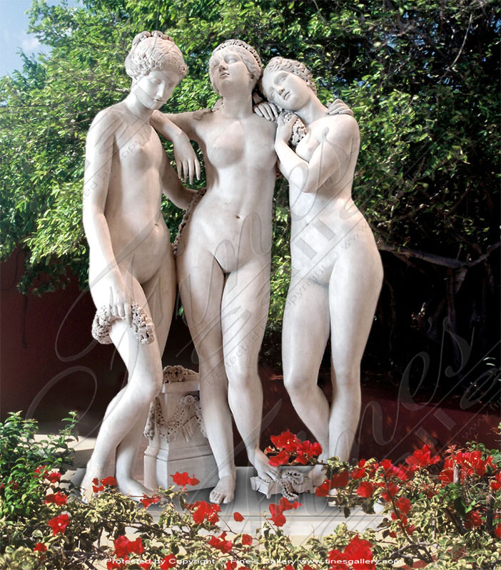 Three Graces in Marble