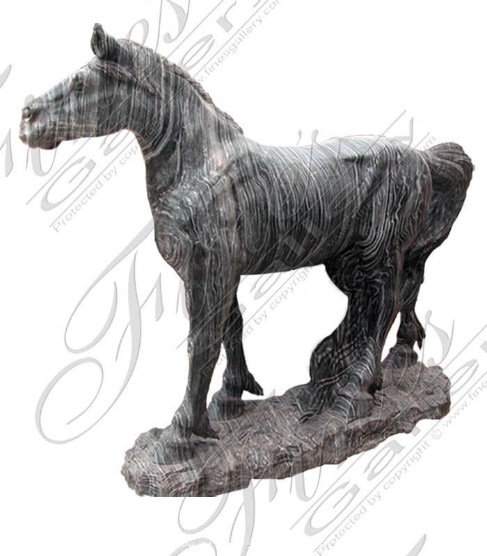 Marble Statues  - Marble Horse - MS-308